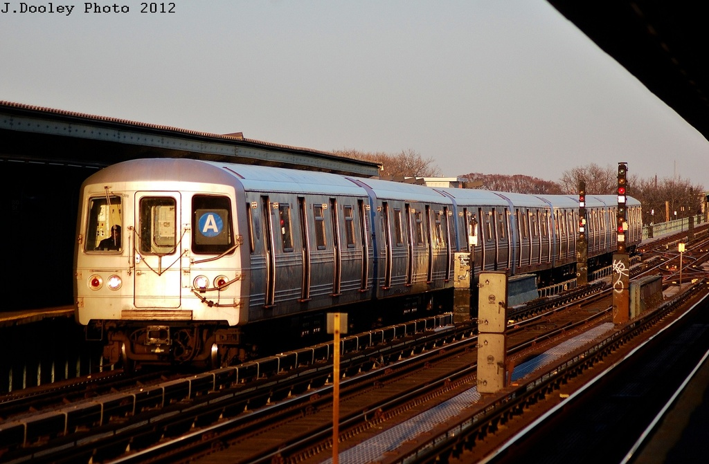 (291k, 1024x671)<br><b>Country:</b> United States<br><b>City:</b> New York<br><b>System:</b> New York City Transit<br><b>Line:</b> IND Fulton Street Line<br><b>Location:</b> 80th Street/Hudson Street <br><b>Route:</b> A<br><b>Car:</b> R-46 (Pullman-Standard, 1974-75) 5998 <br><b>Photo by:</b> John Dooley<br><b>Date:</b> 3/14/2012<br><b>Viewed (this week/total):</b> 0 / 505