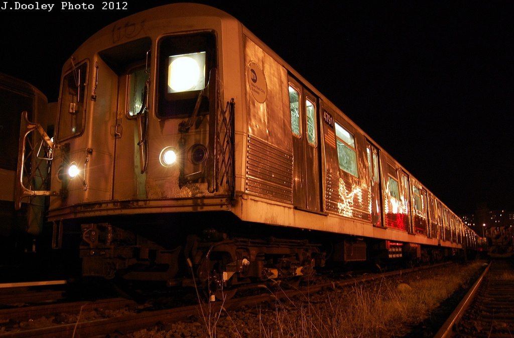 (285k, 1024x673)<br><b>Country:</b> United States<br><b>City:</b> New York<br><b>System:</b> New York City Transit<br><b>Location:</b> Coney Island Yard<br><b>Car:</b> R-42 (St. Louis, 1969-1970)   <br><b>Photo by:</b> John Dooley<br><b>Date:</b> 2/27/2012<br><b>Viewed (this week/total):</b> 1 / 550