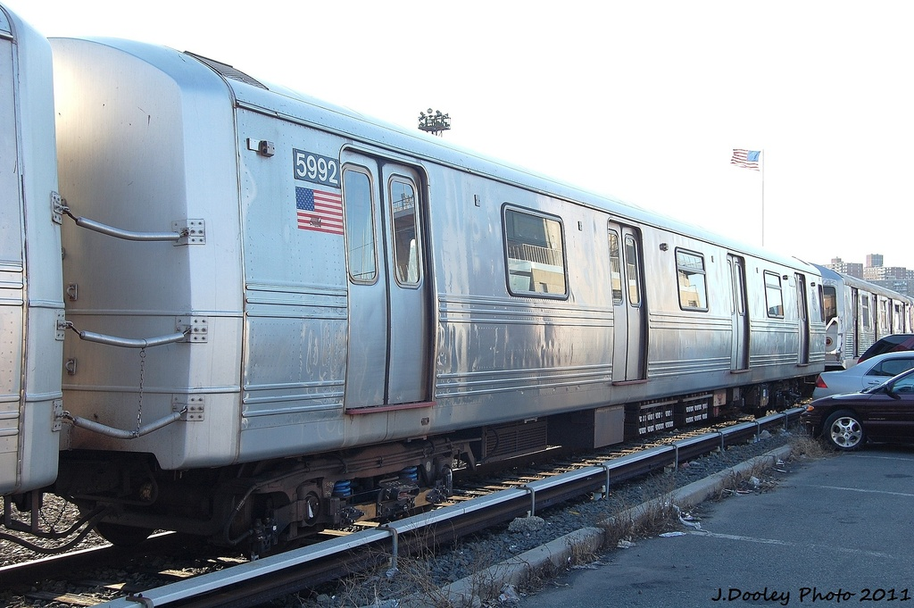 (300k, 1024x681)<br><b>Country:</b> United States<br><b>City:</b> New York<br><b>System:</b> New York City Transit<br><b>Location:</b> Coney Island Yard<br><b>Car:</b> R-46 (Pullman-Standard, 1974-75) 5992 <br><b>Photo by:</b> John Dooley<br><b>Date:</b> 10/15/2011<br><b>Viewed (this week/total):</b> 0 / 381