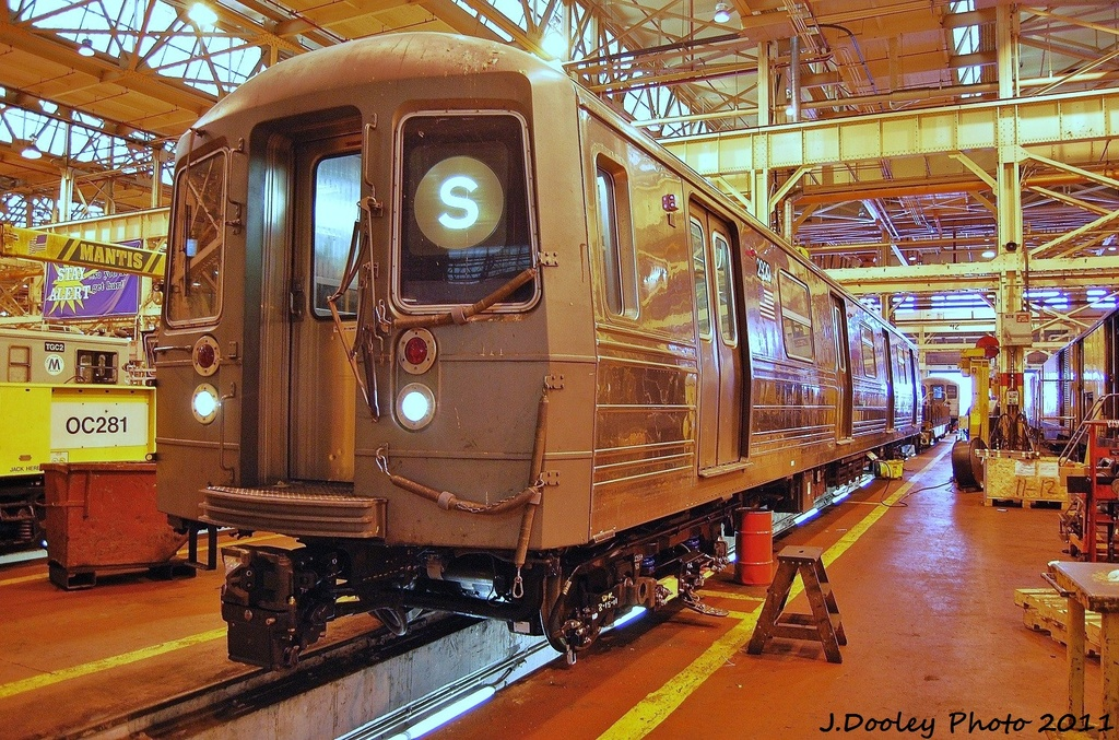 (455k, 1024x677)<br><b>Country:</b> United States<br><b>City:</b> New York<br><b>System:</b> New York City Transit<br><b>Location:</b> Coney Island Shop/Overhaul & Repair Shop<br><b>Car:</b> R-68 (Westinghouse-Amrail, 1986-1988)  2920 <br><b>Photo by:</b> John Dooley<br><b>Date:</b> 8/26/2011<br><b>Viewed (this week/total):</b> 0 / 693