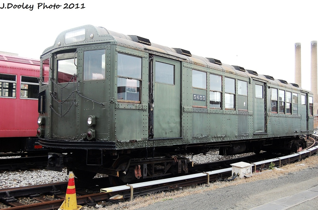 (333k, 1024x678)<br><b>Country:</b> United States<br><b>City:</b> New York<br><b>System:</b> New York City Transit<br><b>Location:</b> Coney Island Yard-Museum Yard<br><b>Car:</b> Low-V Worlds Fair 5655 <br><b>Photo by:</b> John Dooley<br><b>Date:</b> 11/29/2011<br><b>Viewed (this week/total):</b> 0 / 591