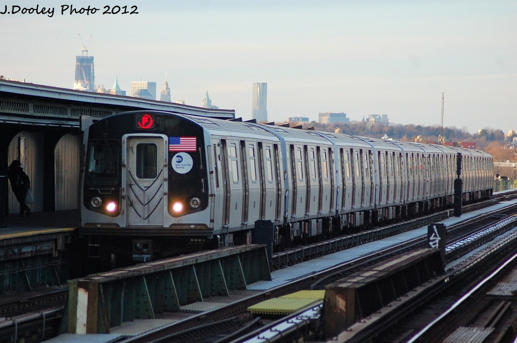 (297k, 1024x680)<br><b>Country:</b> United States<br><b>City:</b> New York<br><b>System:</b> New York City Transit<br><b>Line:</b> BMT Culver Line<br><b>Location:</b> Avenue X <br><b>Route:</b> F<br><b>Car:</b> R-160A/R-160B Series (Number Unknown)  <br><b>Photo by:</b> John Dooley<br><b>Date:</b> 1/20/2012<br><b>Viewed (this week/total):</b> 4 / 379