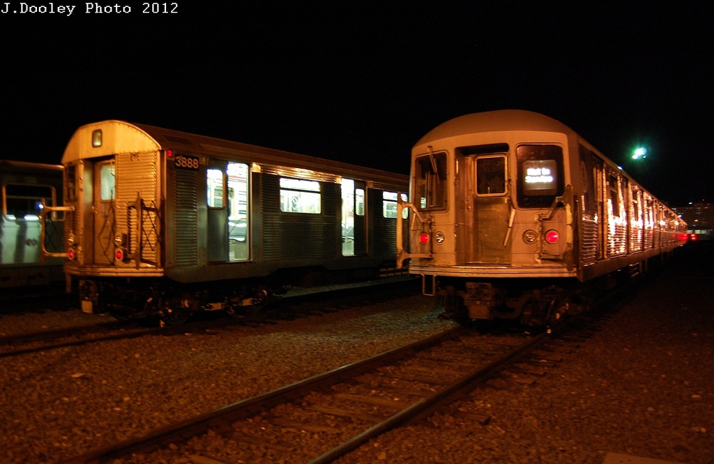(272k, 1024x665)<br><b>Country:</b> United States<br><b>City:</b> New York<br><b>System:</b> New York City Transit<br><b>Location:</b> Coney Island Yard<br><b>Car:</b> R-32 (Budd, 1964)  3888 <br><b>Photo by:</b> John Dooley<br><b>Date:</b> 2/21/2012<br><b>Viewed (this week/total):</b> 0 / 349