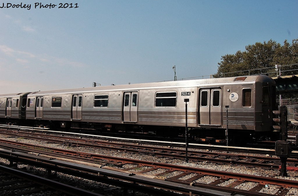 (356k, 1024x675)<br><b>Country:</b> United States<br><b>City:</b> New York<br><b>System:</b> New York City Transit<br><b>Location:</b> Coney Island Yard<br><b>Car:</b> R-68A (Kawasaki, 1988-1989)  5014 <br><b>Photo by:</b> John Dooley<br><b>Date:</b> 8/26/2011<br><b>Viewed (this week/total):</b> 0 / 561