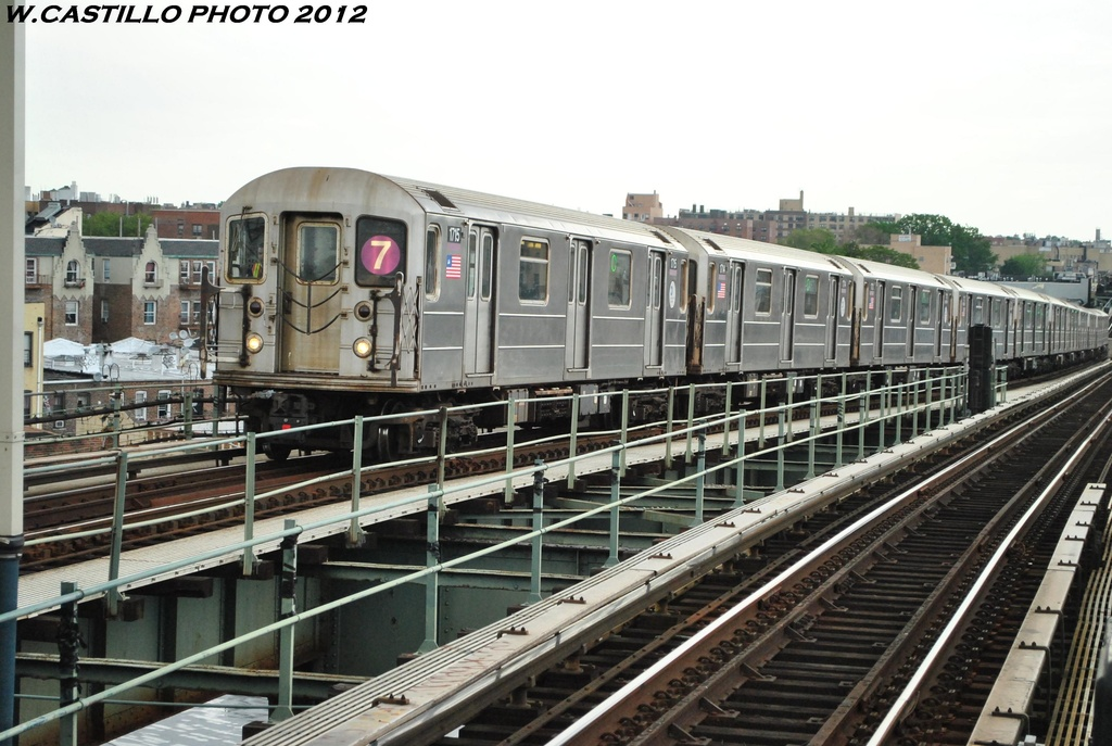 (311k, 1024x687)<br><b>Country:</b> United States<br><b>City:</b> New York<br><b>System:</b> New York City Transit<br><b>Line:</b> IRT Flushing Line<br><b>Location:</b> 61st Street/Woodside <br><b>Route:</b> 7<br><b>Car:</b> R-62A (Bombardier, 1984-1987)  1715 <br><b>Photo by:</b> Wilfredo Castillo<br><b>Date:</b> 5/14/2012<br><b>Viewed (this week/total):</b> 1 / 185