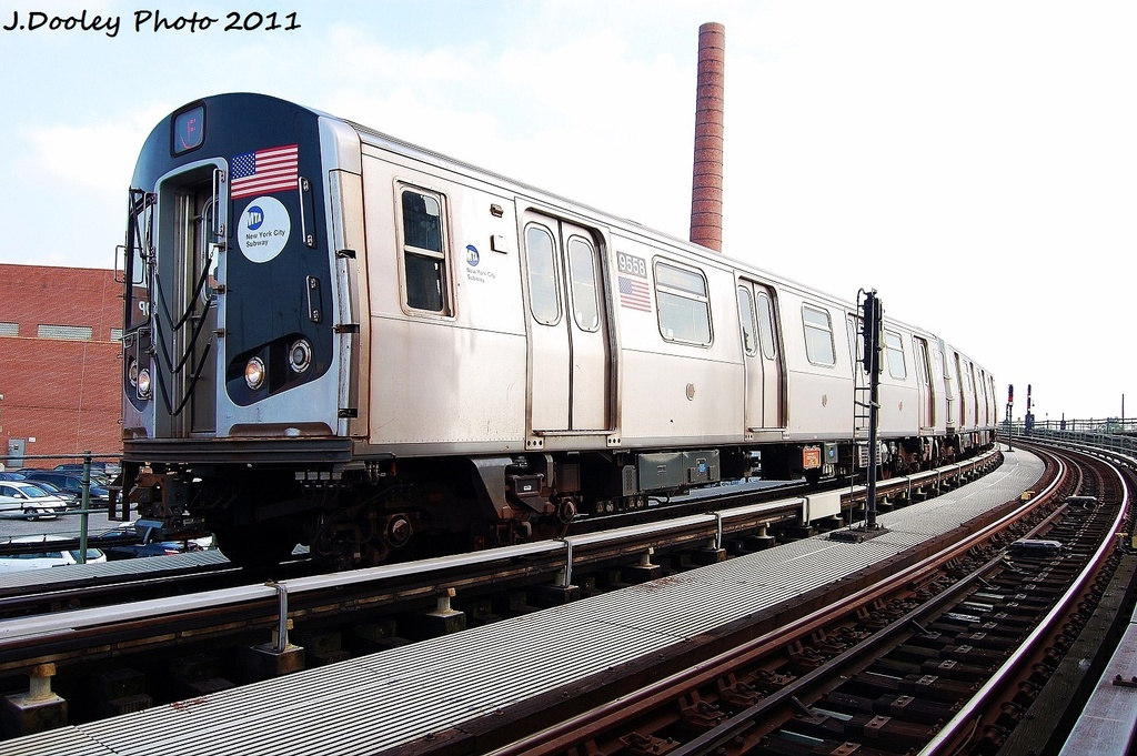 (340k, 1024x681)<br><b>Country:</b> United States<br><b>City:</b> New York<br><b>System:</b> New York City Transit<br><b>Location:</b> Coney Island Yard<br><b>Car:</b> R-160A (Option 1) (Alstom, 2008-2009, 5 car sets)  9558 <br><b>Photo by:</b> John Dooley<br><b>Date:</b> 8/26/2011<br><b>Viewed (this week/total):</b> 0 / 156