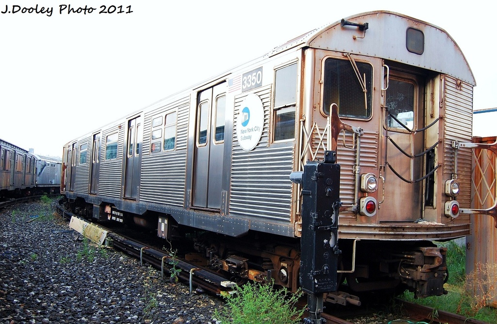(363k, 1024x669)<br><b>Country:</b> United States<br><b>City:</b> New York<br><b>System:</b> New York City Transit<br><b>Location:</b> Coney Island Yard<br><b>Car:</b> R-32 (Budd, 1964)  3350 <br><b>Photo by:</b> John Dooley<br><b>Date:</b> 8/26/2011<br><b>Viewed (this week/total):</b> 3 / 322