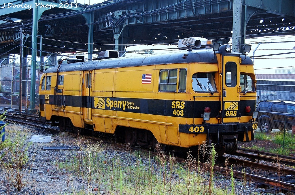 (482k, 1024x677)<br><b>Country:</b> United States<br><b>City:</b> New York<br><b>System:</b> New York City Transit<br><b>Location:</b> Coney Island Yard<br><b>Car:</b> Sperry Rail Service  403 <br><b>Photo by:</b> John Dooley<br><b>Date:</b> 8/26/2011<br><b>Viewed (this week/total):</b> 3 / 310