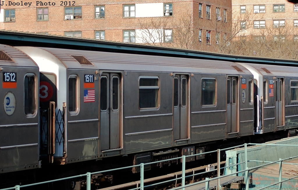 (351k, 1024x653)<br><b>Country:</b> United States<br><b>City:</b> New York<br><b>System:</b> New York City Transit<br><b>Line:</b> IRT Brooklyn Line<br><b>Location:</b> Rockaway Avenue <br><b>Route:</b> 3<br><b>Car:</b> R-62 (Kawasaki, 1983-1985)  1511 <br><b>Photo by:</b> John Dooley<br><b>Date:</b> 3/29/2012<br><b>Viewed (this week/total):</b> 0 / 422