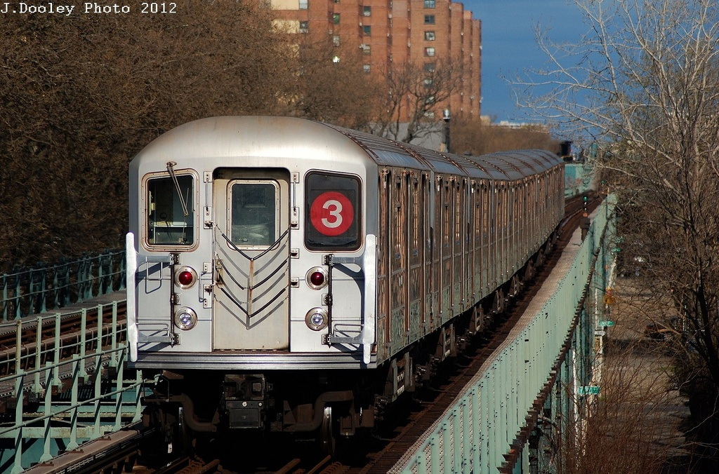 (408k, 1024x676)<br><b>Country:</b> United States<br><b>City:</b> New York<br><b>System:</b> New York City Transit<br><b>Line:</b> IRT Brooklyn Line<br><b>Location:</b> Saratoga Avenue <br><b>Route:</b> 3<br><b>Car:</b> R-62 (Kawasaki, 1983-1985)  1557 <br><b>Photo by:</b> John Dooley<br><b>Date:</b> 3/29/2012<br><b>Viewed (this week/total):</b> 1 / 186