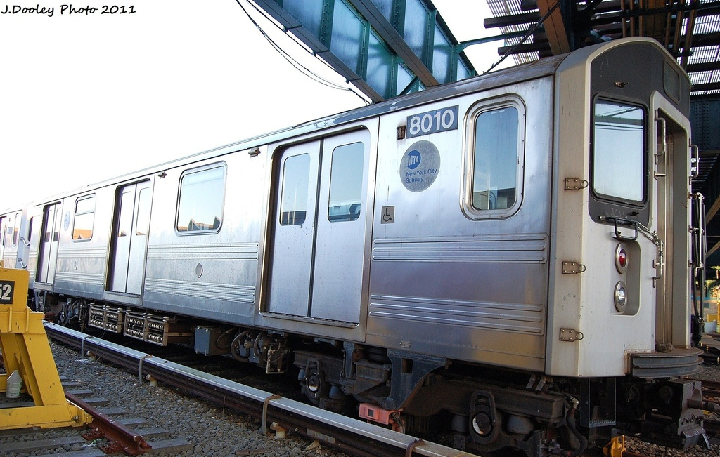(322k, 1024x651)<br><b>Country:</b> United States<br><b>City:</b> New York<br><b>System:</b> New York City Transit<br><b>Location:</b> 239th Street Yard<br><b>Car:</b> R-110A (Kawasaki, 1992) 8010 <br><b>Photo by:</b> John Dooley<br><b>Date:</b> 12/8/2011<br><b>Viewed (this week/total):</b> 4 / 496