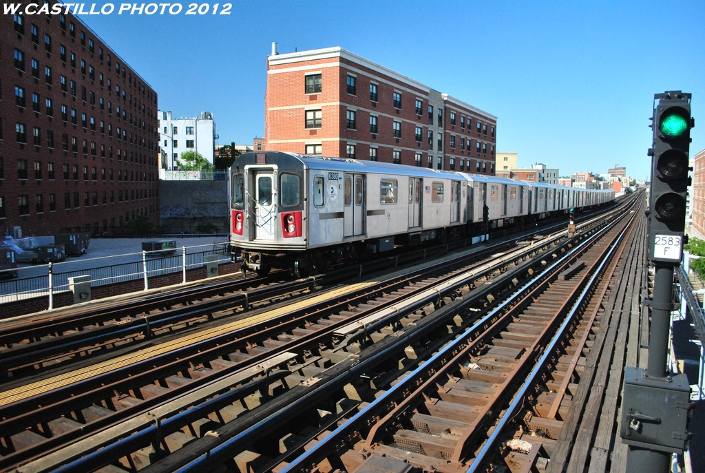 (373k, 1024x687)<br><b>Country:</b> United States<br><b>City:</b> New York<br><b>System:</b> New York City Transit<br><b>Line:</b> IRT White Plains Road Line<br><b>Location:</b> Prospect Avenue <br><b>Route:</b> 2<br><b>Car:</b> R-142 (Primary Order, Bombardier, 1999-2002)  6380 <br><b>Photo by:</b> Wilfredo Castillo<br><b>Date:</b> 5/19/2012<br><b>Viewed (this week/total):</b> 0 / 322