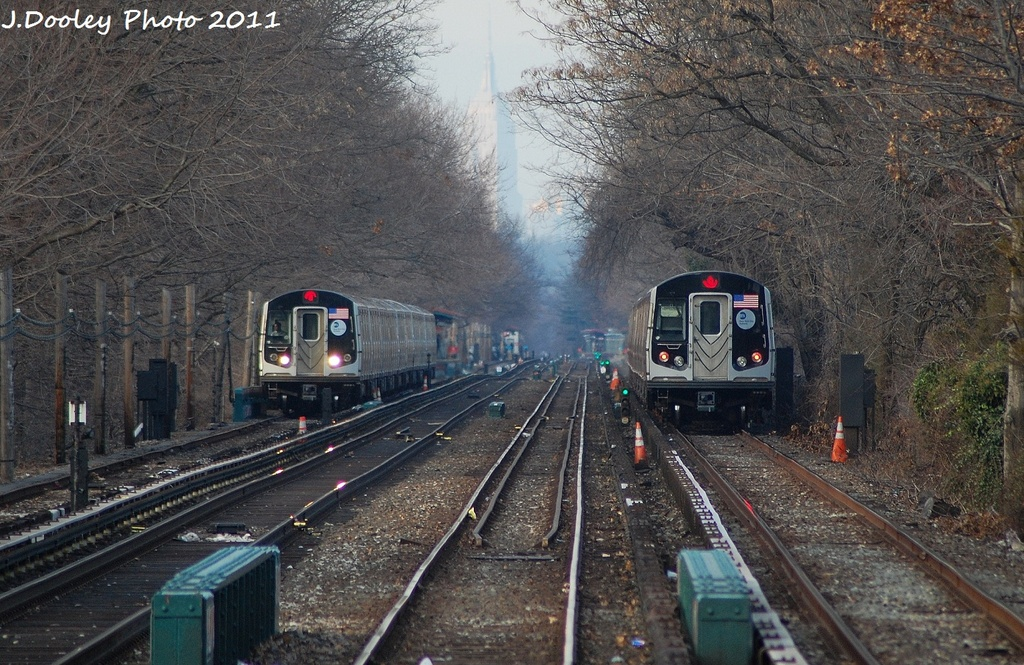 (406k, 1024x665)<br><b>Country:</b> United States<br><b>City:</b> New York<br><b>System:</b> New York City Transit<br><b>Line:</b> BMT Brighton Line<br><b>Location:</b> Kings Highway <br><b>Route:</b> Q<br><b>Car:</b> R-160A-2 (Alstom, 2005-2008, 5 car sets)  8667 <br><b>Photo by:</b> John Dooley<br><b>Date:</b> 12/31/2011<br><b>Viewed (this week/total):</b> 3 / 940