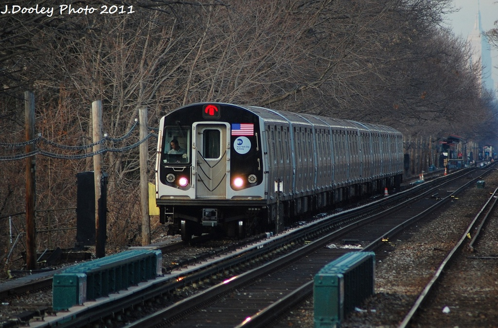 (381k, 1024x675)<br><b>Country:</b> United States<br><b>City:</b> New York<br><b>System:</b> New York City Transit<br><b>Line:</b> BMT Brighton Line<br><b>Location:</b> Kings Highway <br><b>Route:</b> Q<br><b>Car:</b> R-160A-2 (Alstom, 2005-2008, 5 car sets)  8667 <br><b>Photo by:</b> John Dooley<br><b>Date:</b> 12/31/2011<br><b>Viewed (this week/total):</b> 2 / 198