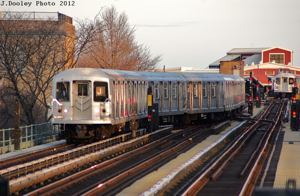 (372k, 1024x668)<br><b>Country:</b> United States<br><b>City:</b> New York<br><b>System:</b> New York City Transit<br><b>Line:</b> BMT Nassau Street/Jamaica Line<br><b>Location:</b> Chauncey Street <br><b>Route:</b> J<br><b>Car:</b> R-42 (St. Louis, 1969-1970)  4787 <br><b>Photo by:</b> John Dooley<br><b>Date:</b> 3/3/2012<br><b>Viewed (this week/total):</b> 0 / 1403
