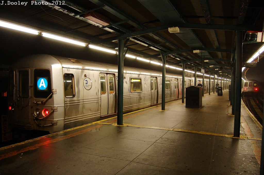 (327k, 1024x680)<br><b>Country:</b> United States<br><b>City:</b> New York<br><b>System:</b> New York City Transit<br><b>Line:</b> IND Fulton Street Line<br><b>Location:</b> Lefferts Boulevard <br><b>Route:</b> A<br><b>Car:</b> R-46 (Pullman-Standard, 1974-75) 5842 <br><b>Photo by:</b> John Dooley<br><b>Date:</b> 5/25/2012<br><b>Viewed (this week/total):</b> 0 / 502