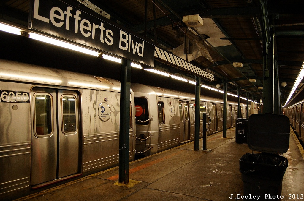 (342k, 1024x680)<br><b>Country:</b> United States<br><b>City:</b> New York<br><b>System:</b> New York City Transit<br><b>Line:</b> IND Fulton Street Line<br><b>Location:</b> Lefferts Boulevard <br><b>Route:</b> S<br><b>Car:</b> R-46 (Pullman-Standard, 1974-75)  <br><b>Photo by:</b> John Dooley<br><b>Date:</b> 5/25/2012<br><b>Viewed (this week/total):</b> 0 / 444