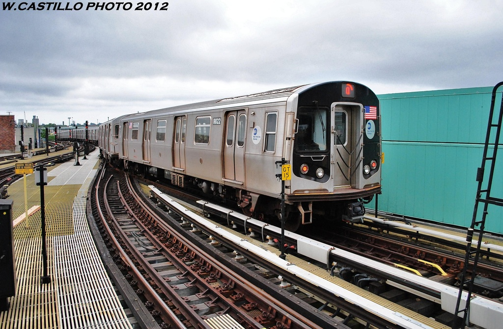 (348k, 1024x671)<br><b>Country:</b> United States<br><b>City:</b> New York<br><b>System:</b> New York City Transit<br><b>Location:</b> Coney Island/Stillwell Avenue<br><b>Route:</b> Q<br><b>Car:</b> R-160A-1 (Alstom, 2005-2008, 4 car sets)  8822 <br><b>Photo by:</b> Wilfredo Castillo<br><b>Date:</b> 6/1/2012<br><b>Viewed (this week/total):</b> 0 / 257
