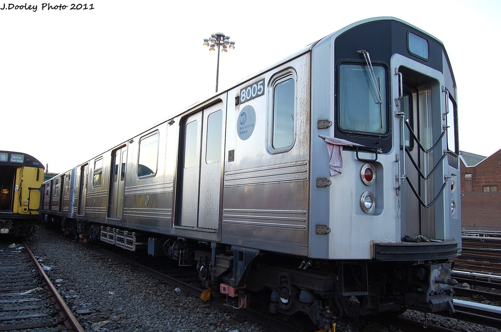 (283k, 1024x678)<br><b>Country:</b> United States<br><b>City:</b> New York<br><b>System:</b> New York City Transit<br><b>Location:</b> 239th Street Yard<br><b>Car:</b> R-110A (Kawasaki, 1992) 8005 <br><b>Photo by:</b> John Dooley<br><b>Date:</b> 12/8/2011<br><b>Viewed (this week/total):</b> 2 / 982