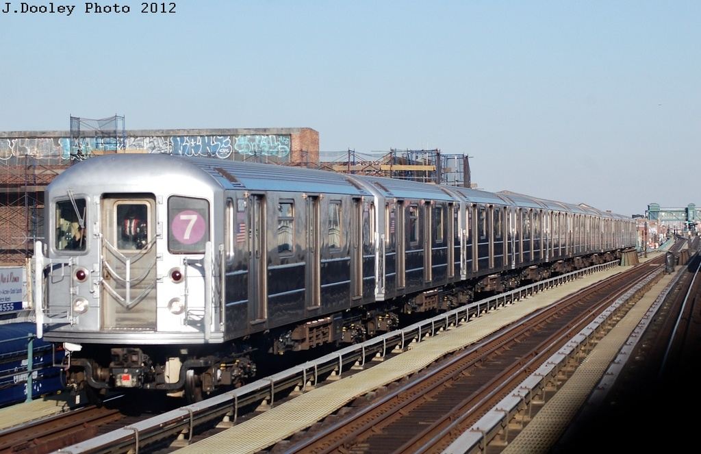 (291k, 1024x663)<br><b>Country:</b> United States<br><b>City:</b> New York<br><b>System:</b> New York City Transit<br><b>Line:</b> IRT Flushing Line<br><b>Location:</b> Junction Boulevard <br><b>Route:</b> 7<br><b>Car:</b> R-62A (Bombardier, 1984-1987)  1806 <br><b>Photo by:</b> John Dooley<br><b>Date:</b> 3/6/2012<br><b>Viewed (this week/total):</b> 0 / 907