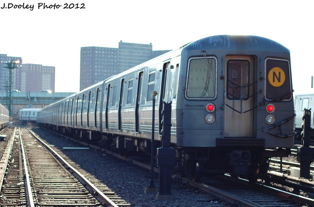 (262k, 1024x675)<br><b>Country:</b> United States<br><b>City:</b> New York<br><b>System:</b> New York City Transit<br><b>Location:</b> Coney Island Yard<br><b>Car:</b> R-68A (Kawasaki, 1988-1989)  5146 <br><b>Photo by:</b> John Dooley<br><b>Date:</b> 1/7/2012<br><b>Viewed (this week/total):</b> 1 / 337