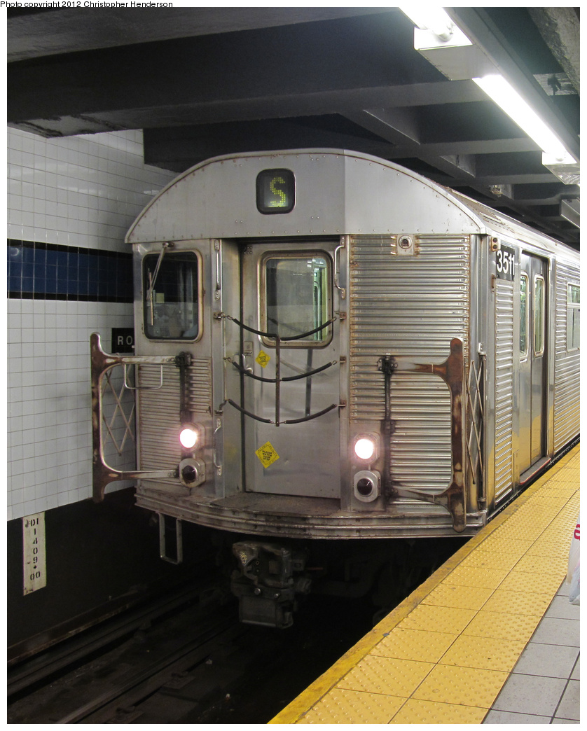 (374k, 838x1044)<br><b>Country:</b> United States<br><b>City:</b> New York<br><b>System:</b> New York City Transit<br><b>Line:</b> IND Queens Boulevard Line<br><b>Location:</b> Roosevelt Avenue <br><b>Route:</b> Work Service<br><b>Car:</b> R-32 (Budd, 1964)  3511 <br><b>Photo by:</b> Christopher Henderson<br><b>Date:</b> 6/21/2012<br><b>Viewed (this week/total):</b> 4 / 803