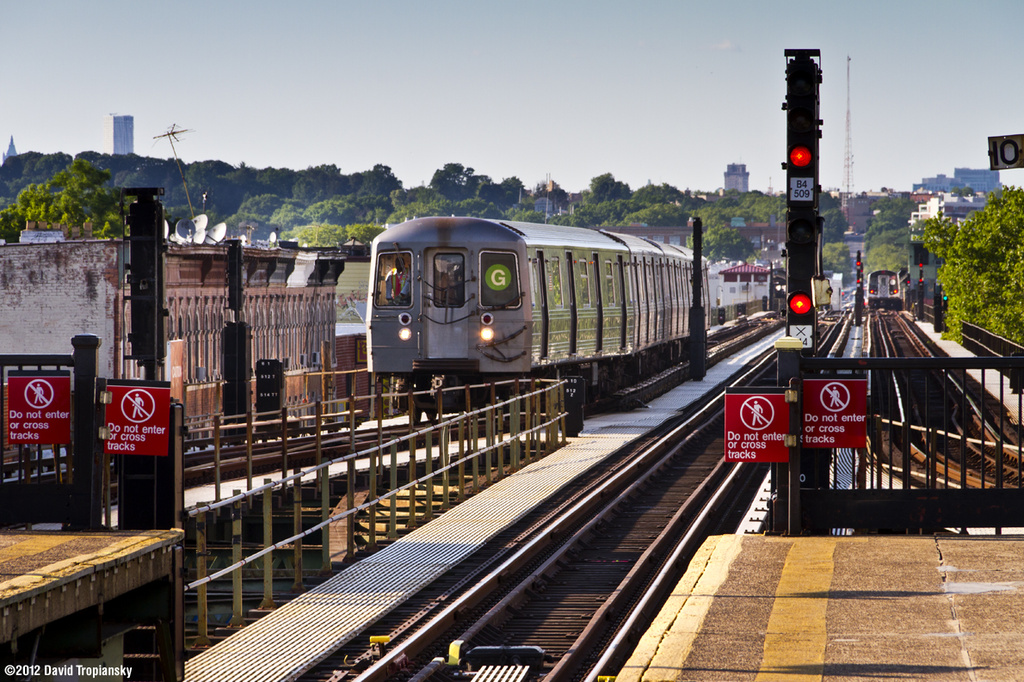 (437k, 1024x682)<br><b>Country:</b> United States<br><b>City:</b> New York<br><b>System:</b> New York City Transit<br><b>Line:</b> BMT Culver Line<br><b>Location:</b> 18th Avenue <br><b>Route:</b> G yard move<br><b>Car:</b> R-68A (Kawasaki, 1988-1989)  5150 <br><b>Photo by:</b> David Tropiansky<br><b>Date:</b> 7/2/2012<br><b>Viewed (this week/total):</b> 1 / 617