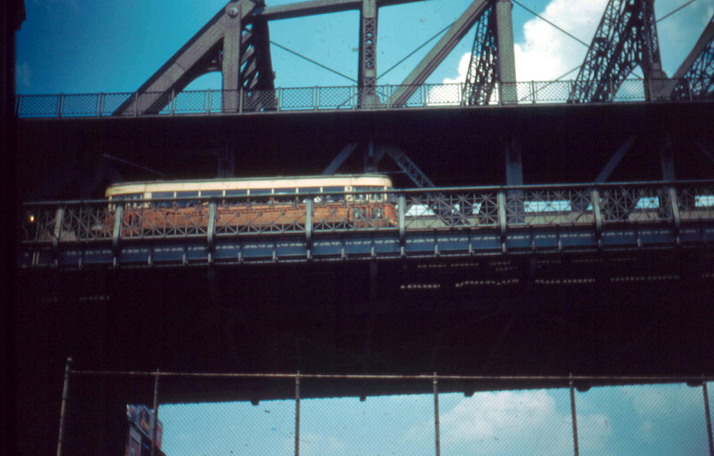 (231k, 1024x654)<br><b>Country:</b> United States<br><b>City:</b> New York<br><b>System:</b> Queensborough Bridge Railway<br><b>Location:</b> Queensborough Bridge <br><b>Collection of:</b> Frank Pfuhler<br><b>Date:</b> 7/3/1955<br><b>Viewed (this week/total):</b> 1 / 408