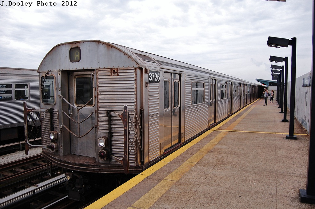 (335k, 1024x680)<br><b>Country:</b> United States<br><b>City:</b> New York<br><b>System:</b> New York City Transit<br><b>Line:</b> IND Fulton Street Line<br><b>Location:</b> 80th Street/Hudson Street <br><b>Route:</b> A<br><b>Car:</b> R-32 (Budd, 1964)  3726 <br><b>Photo by:</b> John Dooley<br><b>Date:</b> 5/30/2012<br><b>Viewed (this week/total):</b> 2 / 175