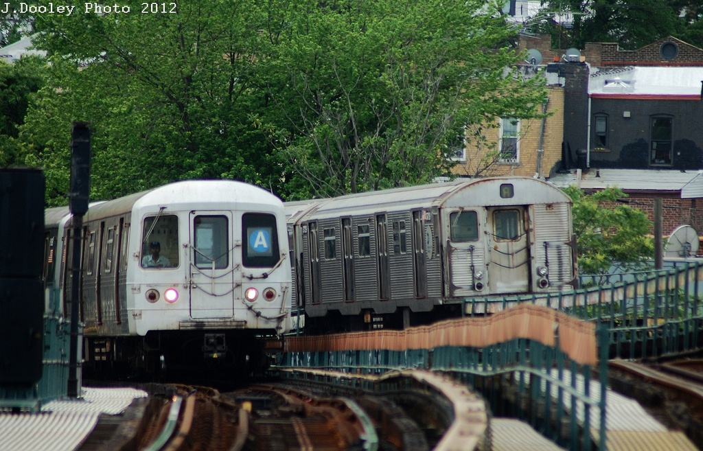 (370k, 1024x657)<br><b>Country:</b> United States<br><b>City:</b> New York<br><b>System:</b> New York City Transit<br><b>Line:</b> IND Fulton Street Line<br><b>Location:</b> 80th Street/Hudson Street <br><b>Route:</b> A<br><b>Car:</b> R-32 (Budd, 1964)   <br><b>Photo by:</b> John Dooley<br><b>Date:</b> 5/30/2012<br><b>Viewed (this week/total):</b> 2 / 434
