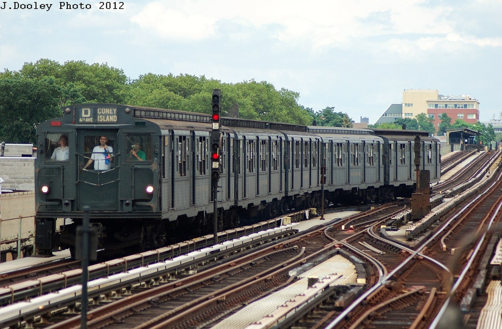 (344k, 1024x671)<br><b>Country:</b> United States<br><b>City:</b> New York<br><b>System:</b> New York City Transit<br><b>Line:</b> BMT Culver Line<br><b>Location:</b> Avenue X <br><b>Route:</b> Transit Museum Nostalgia Train<br><b>Car:</b> R-6-1 (Pressed Steel, 1936)  1300 <br><b>Photo by:</b> John Dooley<br><b>Date:</b> 7/29/2012<br><b>Viewed (this week/total):</b> 4 / 417