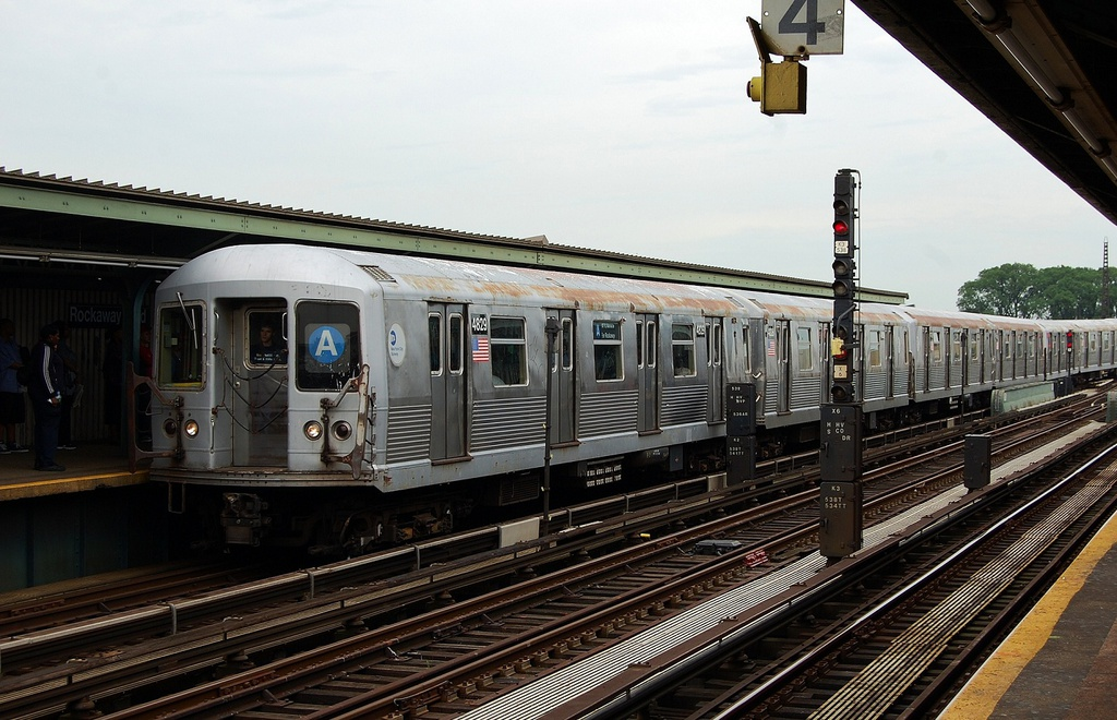 (323k, 1024x660)<br><b>Country:</b> United States<br><b>City:</b> New York<br><b>System:</b> New York City Transit<br><b>Line:</b> IND Fulton Street Line<br><b>Location:</b> Rockaway Boulevard <br><b>Route:</b> A<br><b>Car:</b> R-42 (St. Louis, 1969-1970)  4829 <br><b>Photo by:</b> John Dooley<br><b>Date:</b> 5/30/2012<br><b>Viewed (this week/total):</b> 3 / 586