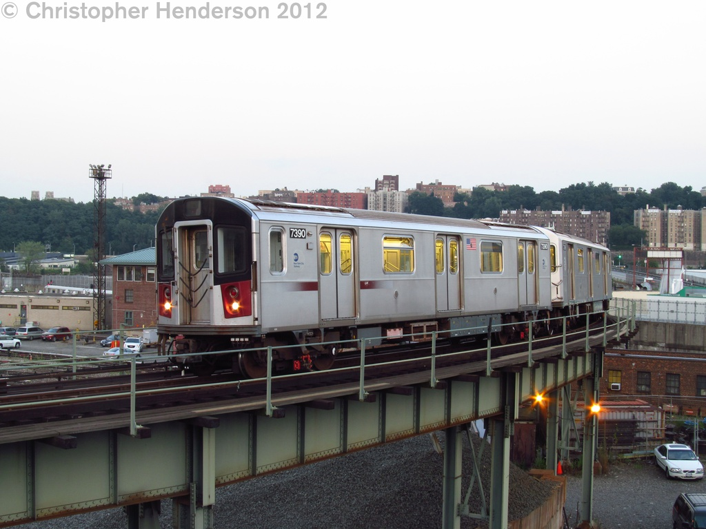 (238k, 1024x768)<br><b>Country:</b> United States<br><b>City:</b> New York<br><b>System:</b> New York City Transit<br><b>Line:</b> IRT West Side Line<br><b>Location:</b> 207th Street <br><b>Car:</b> R-142A (Primary Order, Kawasaki, 1999-2002)  7390 <br><b>Photo by:</b> Christopher Henderson<br><b>Date:</b> 8/2/2012<br><b>Viewed (this week/total):</b> 9 / 1279