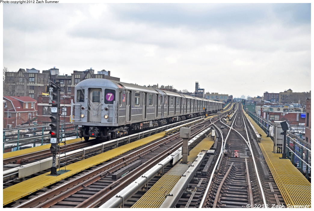 (397k, 1044x700)<br><b>Country:</b> United States<br><b>City:</b> New York<br><b>System:</b> New York City Transit<br><b>Line:</b> IRT Flushing Line<br><b>Location:</b> 74th Street/Broadway <br><b>Route:</b> 7<br><b>Car:</b> R-62A (Bombardier, 1984-1987)  1731 <br><b>Photo by:</b> Zach Summer<br><b>Date:</b> 3/13/2012<br><b>Viewed (this week/total):</b> 1 / 991