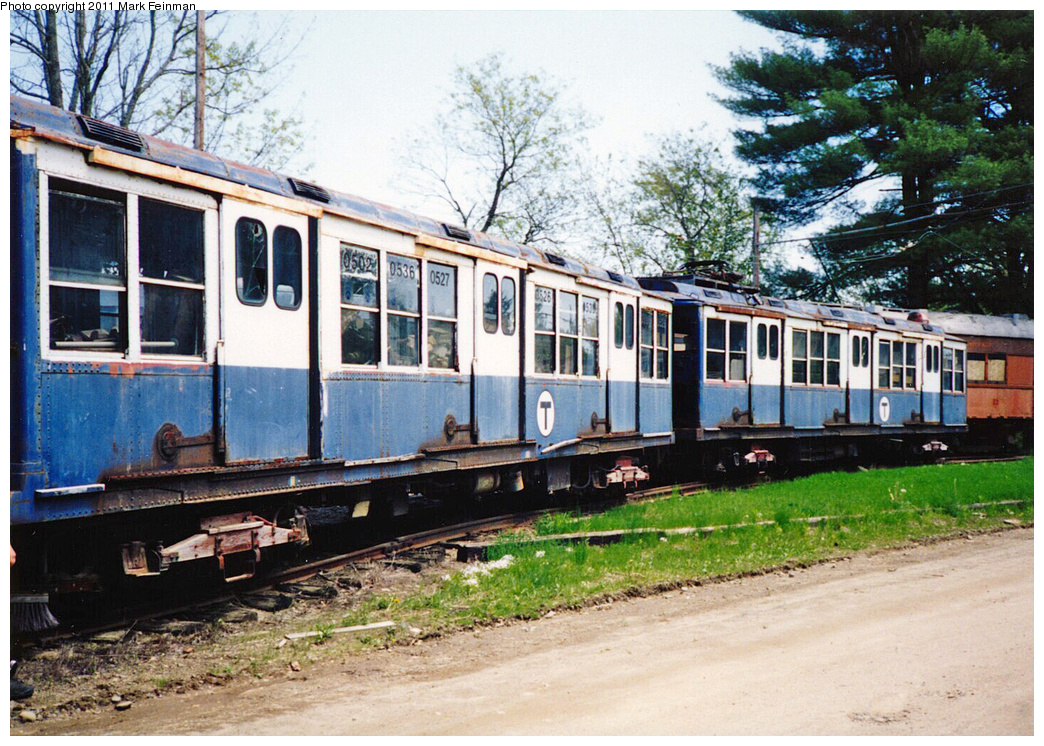 (473k, 1044x746)<br><b>Country:</b> United States<br><b>City:</b> Kennebunk, ME<br><b>System:</b> Seashore Trolley Museum <br><b>Car:</b> MBTA 0500 Series (Pullman, 1923)  05xx <br><b>Photo by:</b> Mark S. Feinman<br><b>Date:</b> 1994<br><b>Viewed (this week/total):</b> 0 / 362