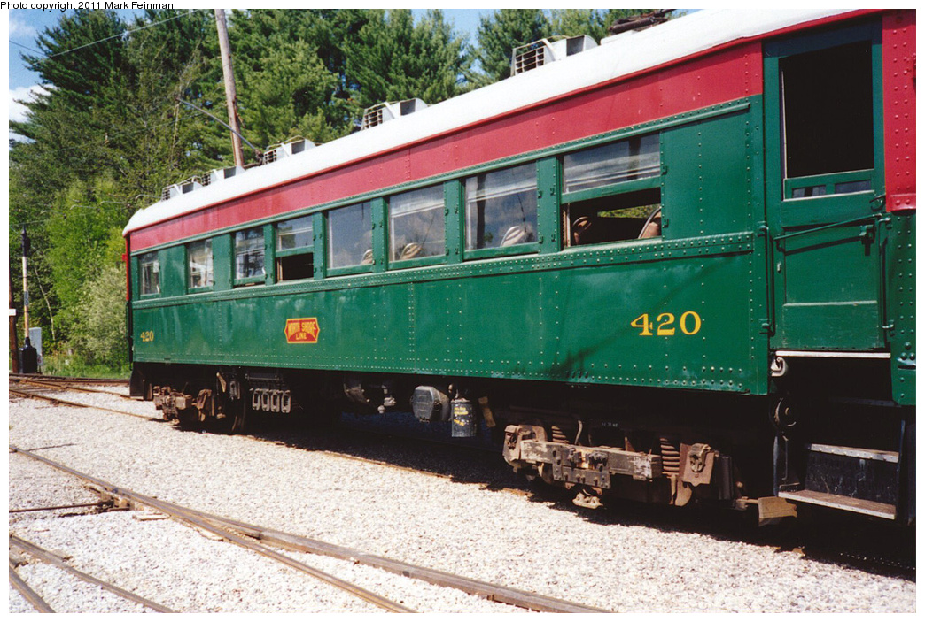 (434k, 1044x703)<br><b>Country:</b> United States<br><b>City:</b> Kennebunk, ME<br><b>System:</b> Seashore Trolley Museum <br><b>Car:</b>  420 <br><b>Photo by:</b> Mark S. Feinman<br><b>Date:</b> 1994<br><b>Viewed (this week/total):</b> 3 / 107