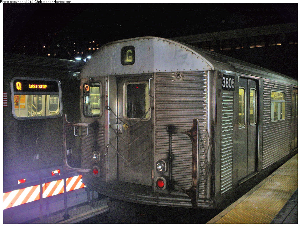 (288k, 1044x788)<br><b>Country:</b> United States<br><b>City:</b> New York<br><b>System:</b> New York City Transit<br><b>Location:</b> Coney Island/Stillwell Avenue<br><b>Route:</b> G<br><b>Car:</b> R-32 (Budd, 1964)  3805 <br><b>Photo by:</b> Christopher Henderson<br><b>Date:</b> 1/16/2009<br><b>Viewed (this week/total):</b> 0 / 481