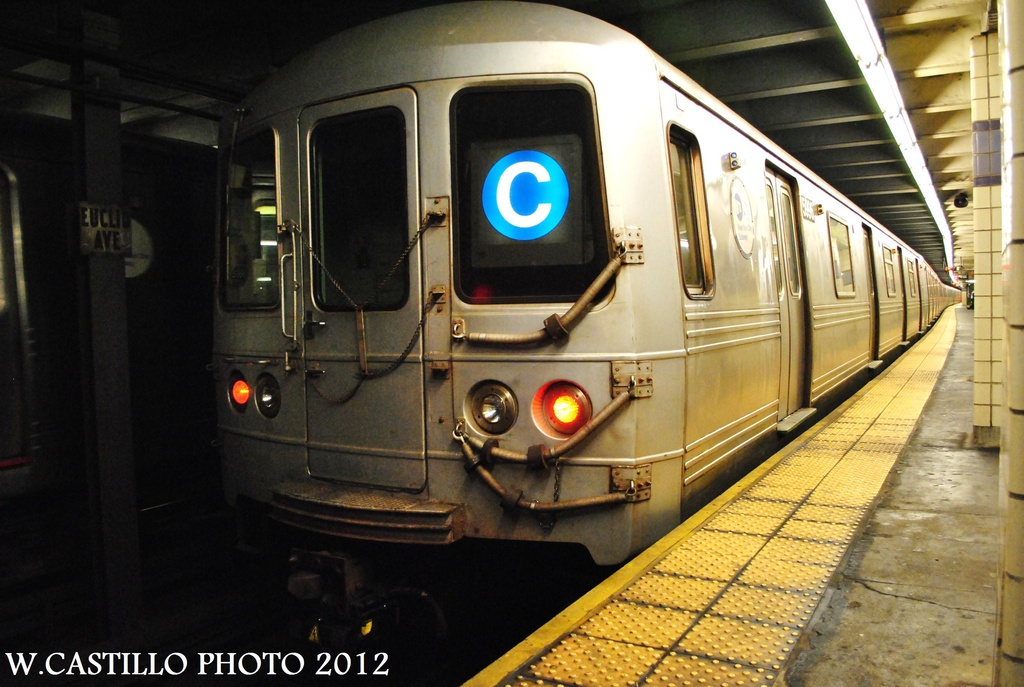 (300k, 1024x687)<br><b>Country:</b> United States<br><b>City:</b> New York<br><b>System:</b> New York City Transit<br><b>Line:</b> IND Fulton Street Line<br><b>Location:</b> Euclid Avenue <br><b>Route:</b> C<br><b>Car:</b> R-46 (Pullman-Standard, 1974-75) 5996 <br><b>Photo by:</b> Wilfredo Castillo<br><b>Date:</b> 9/23/2012<br><b>Viewed (this week/total):</b> 0 / 703