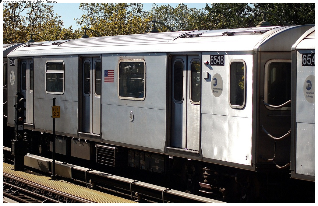 (358k, 1044x677)<br><b>Country:</b> United States<br><b>City:</b> New York<br><b>System:</b> New York City Transit<br><b>Line:</b> IRT White Plains Road Line<br><b>Location:</b> Jackson Avenue <br><b>Route:</b> 2<br><b>Car:</b> R-142 (Primary Order, Bombardier, 1999-2002)  6548 <br><b>Photo by:</b> John Dooley<br><b>Date:</b> 10/11/2012<br><b>Viewed (this week/total):</b> 1 / 247