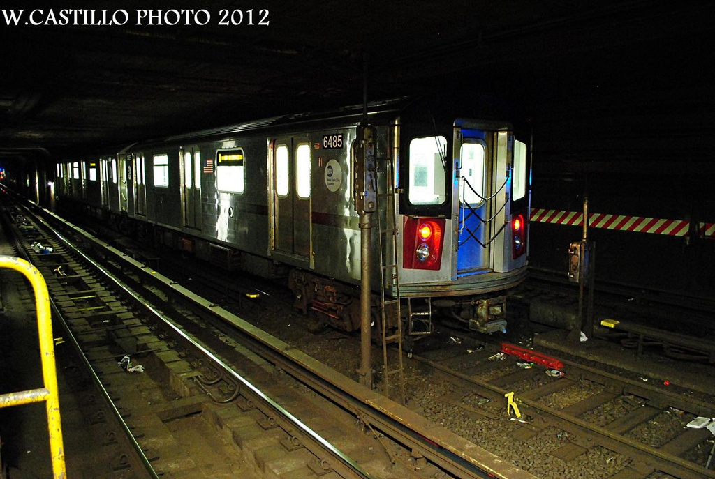 (292k, 1024x687)<br><b>Country:</b> United States<br><b>City:</b> New York<br><b>System:</b> New York City Transit<br><b>Line:</b> IRT Brooklyn Line<br><b>Location:</b> Nevins Street <br><b>Car:</b> R-142 (Primary Order, Bombardier, 1999-2002)  6485 <br><b>Photo by:</b> Wilfredo Castillo<br><b>Date:</b> 10/22/2012<br><b>Viewed (this week/total):</b> 7 / 1681