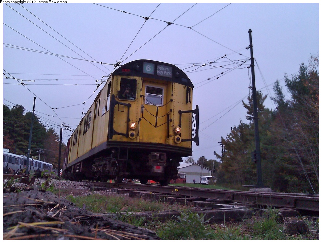 (340k, 1044x788)<br><b>Country:</b> United States<br><b>City:</b> Kennebunk, ME<br><b>System:</b> Seashore Trolley Museum <br><b>Car:</b> R-22 (St. Louis, 1957-58) 7460 <br><b>Photo by:</b> James Rawlerson<br><b>Date:</b> 10/7/2012<br><b>Viewed (this week/total):</b> 0 / 339