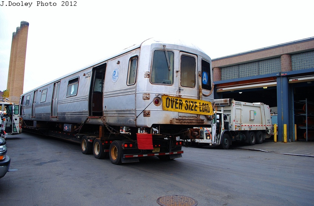 (288k, 1024x673)<br><b>Country:</b> United States<br><b>City:</b> New York<br><b>System:</b> New York City Transit<br><b>Location:</b> 207th Street Yard<br><b>Car:</b> R-44 (St. Louis, 1971-73) 5420 <br><b>Photo by:</b> John Dooley<br><b>Date:</b> 10/26/2012<br><b>Notes:</b> Scrapping<br><b>Viewed (this week/total):</b> 2 / 1028