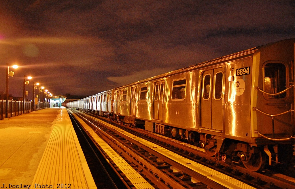 (361k, 1024x657)<br><b>Country:</b> United States<br><b>City:</b> New York<br><b>System:</b> New York City Transit<br><b>Line:</b> BMT West End Line<br><b>Location:</b> 55th Street <br><b>Route:</b> Layup<br><b>Car:</b> R-160B (Kawasaki, 2005-2008)  8894 <br><b>Photo by:</b> John Dooley<br><b>Date:</b> 11/2/2012<br><b>Notes:</b> Post-Sandy layup<br><b>Viewed (this week/total):</b> 8 / 509