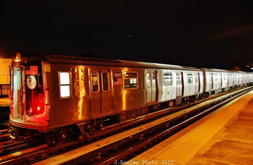 (333k, 1024x668)<br><b>Country:</b> United States<br><b>City:</b> New York<br><b>System:</b> New York City Transit<br><b>Line:</b> BMT West End Line<br><b>Location:</b> 55th Street <br><b>Route:</b> Layup<br><b>Car:</b> R-160B (Kawasaki, 2005-2008)  8898 <br><b>Photo by:</b> John Dooley<br><b>Date:</b> 11/2/2012<br><b>Notes:</b> Post-Sandy layup<br><b>Viewed (this week/total):</b> 2 / 260