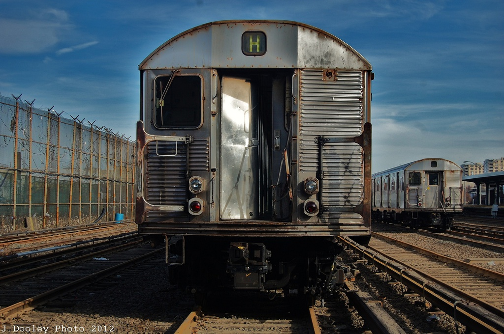(335k, 1024x680)<br><b>Country:</b> United States<br><b>City:</b> New York<br><b>System:</b> New York City Transit<br><b>Location:</b> Rockaway Park Yard<br><b>Car:</b> R-32 (Budd, 1964)   <br><b>Photo by:</b> John Dooley<br><b>Date:</b> 11/20/2012<br><b>Viewed (this week/total):</b> 2 / 724