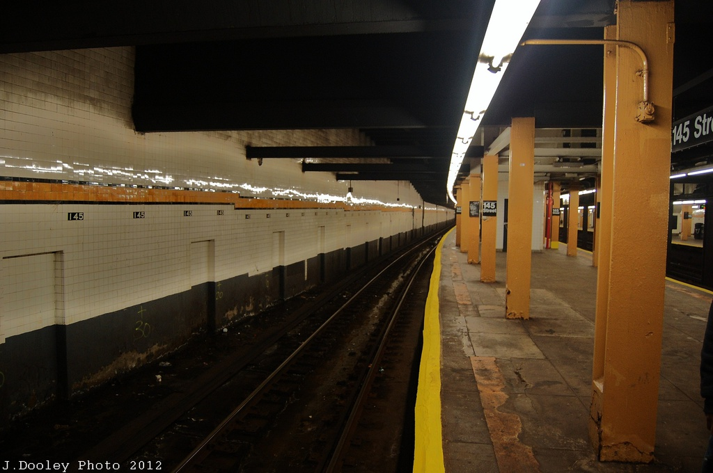 (255k, 1024x680)<br><b>Country:</b> United States<br><b>City:</b> New York<br><b>System:</b> New York City Transit<br><b>Line:</b> IND 8th Avenue Line<br><b>Location:</b> 145th Street <br><b>Photo by:</b> John Dooley<br><b>Date:</b> 11/13/2012<br><b>Viewed (this week/total):</b> 4 / 432