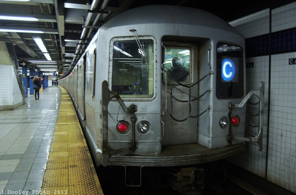 (297k, 1024x674)<br><b>Country:</b> United States<br><b>City:</b> New York<br><b>System:</b> New York City Transit<br><b>Line:</b> IND 8th Avenue Line<br><b>Location:</b> Canal Street-Holland Tunnel <br><b>Route:</b> C<br><b>Car:</b> R-42 (St. Louis, 1969-1970)  4802 <br><b>Photo by:</b> John Dooley<br><b>Date:</b> 11/13/2012<br><b>Viewed (this week/total):</b> 0 / 969