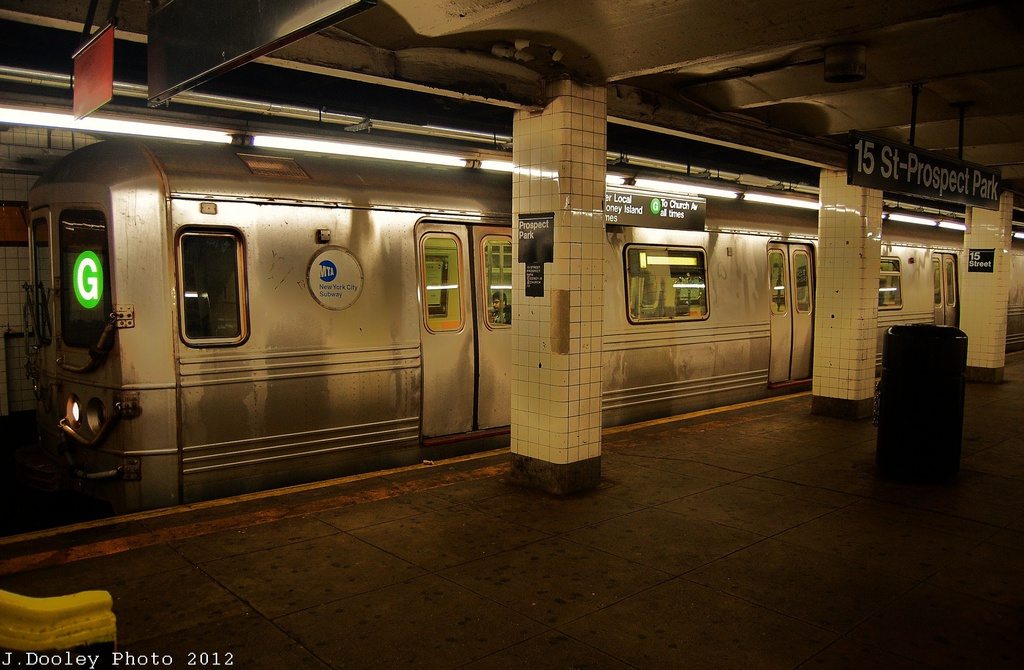 (307k, 1024x670)<br><b>Country:</b> United States<br><b>City:</b> New York<br><b>System:</b> New York City Transit<br><b>Line:</b> IND Crosstown Line<br><b>Location:</b> 15th Street/Prospect Park <br><b>Route:</b> G<br><b>Car:</b> R-46 (Pullman-Standard, 1974-75) 5820 <br><b>Photo by:</b> John Dooley<br><b>Date:</b> 11/13/2012<br><b>Viewed (this week/total):</b> 3 / 395