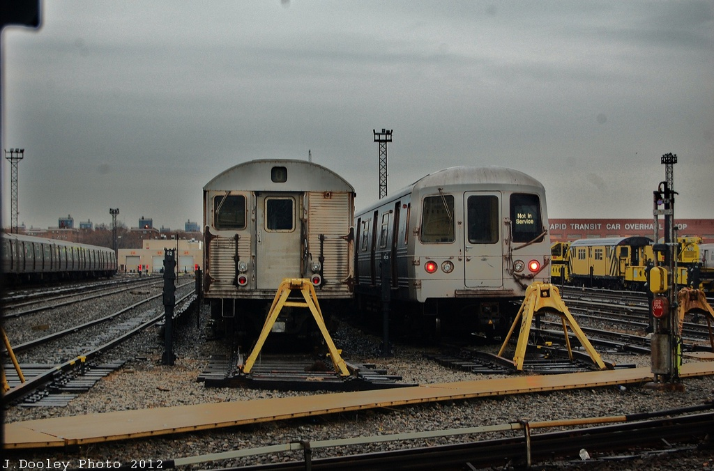 (312k, 1024x676)<br><b>Country:</b> United States<br><b>City:</b> New York<br><b>System:</b> New York City Transit<br><b>Location:</b> Coney Island Yard<br><b>Car:</b> R-32 (Budd, 1964)   <br><b>Photo by:</b> John Dooley<br><b>Date:</b> 12/9/2012<br><b>Viewed (this week/total):</b> 4 / 611