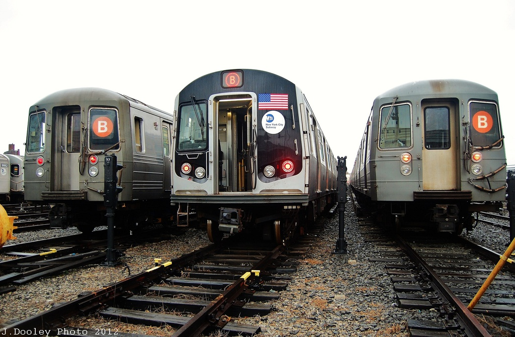 (328k, 1024x670)<br><b>Country:</b> United States<br><b>City:</b> New York<br><b>System:</b> New York City Transit<br><b>Location:</b> Coney Island Yard<br><b>Car:</b> R-68 (Westinghouse-Amrail, 1986-1988)   <br><b>Photo by:</b> John Dooley<br><b>Date:</b> 12/9/2012<br><b>Notes:</b> R-68, R-160, R-68A<br><b>Viewed (this week/total):</b> 4 / 591